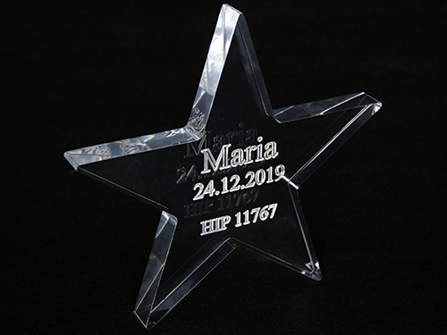 Stjerne i akrylglas