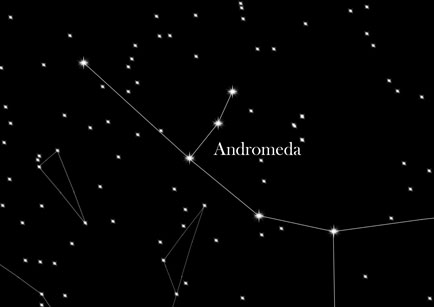 Konstellation Andromeda